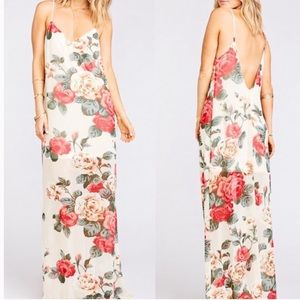 Show Me Your Mumu Jolie Maxi Dress Lady Rose Sz S